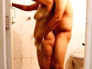 Mona Bhabhi In Bathroom Slit Fucked In Doggystyle